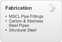 Fabrication of MSCL Pipe Fittings, Mild Steel Cement Lined Pipes, Carbon & Stainless Steel Pipes, Structural Steel